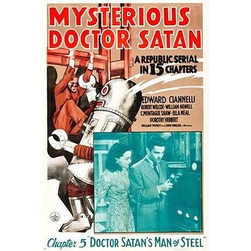 MYSTERIOUS DOCTOR SATAN a republic serial COMIC BOOK POSTER collectors 24X36