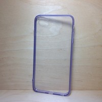 For Apple iPhone 6 Plus (5.5 inches) Light Purple Silicone Bumper and Clear Hard Acrylic Case