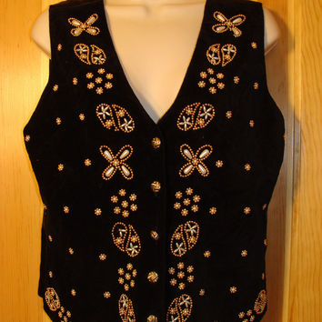 Tacky Ugly Christmas Sweater Party  Vest with Bling (f374)