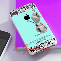 olaf disney frozen tiffani leopard cover for iphone 4/4s case, iphone 5/5s/5c case, galaxy s3/s4/s5 case, nexus 4, htc one case, ipod case