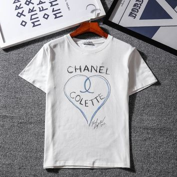 Chanel Woman Men Fashion Heart Tunic Shirt Top Blouse