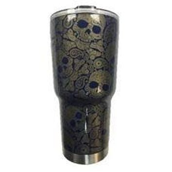 Brewer Paisley Skull Tumbler Warehouse Tumbler