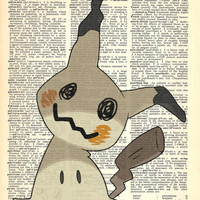 Mimikyu Pokemon Dictionary Art Print