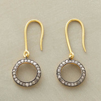 pave in the round earrings