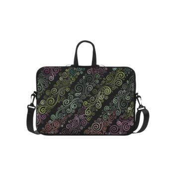 Personalized Laptop Handbag Psychedelic Pastel Macbook Air Shoulder Bag 15.6 Inch