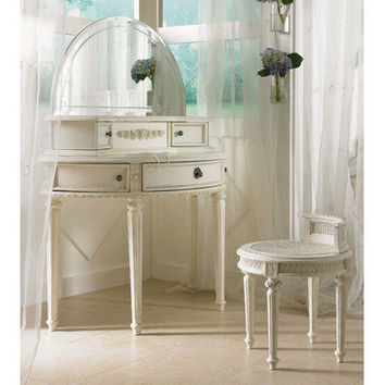 Lea Industries Emma's Treasures Small Bedroom Vanity and Mirror with Optional Bench