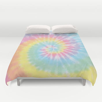 Pastel Tie Dye Duvet Cover by Kate & Co.