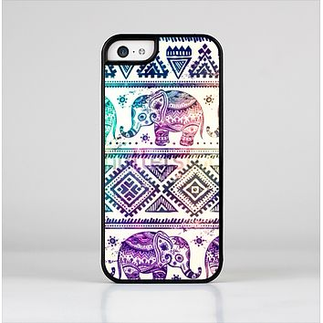The Tie-Dyed Aztec Elephant Pattern Skin-Sert Case for the Apple iPhone 5c