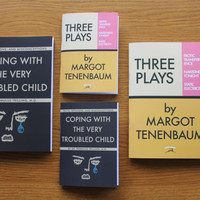 "4 Wes Anderson notebooks! - ""Three Plays"" by Margot Tenenbaum and Moonrise Kingdom - lined - Up to 30% OFF!"