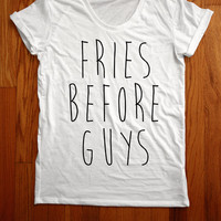 Fries Before Guys Scoopneck Tee by Valonar Sensei from CULT REPUBLIC