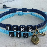 Couple bracelet gift Hallowmas his hers key lock = 1930019652