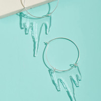 Vinca See What Icy Hoop Earrings