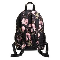 Women's Floral Satin Backpack Handbag - Mossimo Supply Co.™ Black/Pink