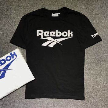 """Reebok"" Unisex Sport Casual Classic Letter Print Couple Short Sleeve T-shirt Top Tee"