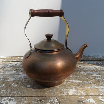 Vintage Old Copper Kettle O P I Portugal Tea Kettle Copper Kitchen