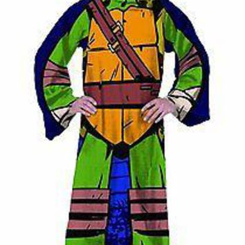 Teenage Mutant Ninja Turtle Being Leo Full Body Comfy Snuggie Blanket