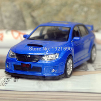 Brand New UNI 1 36 Scale Japan Subaru STI Diecast Metal Pull Back Car Model Toy For Gift Collection Kids