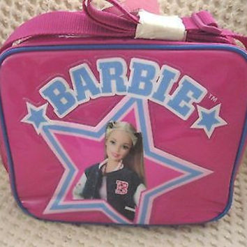 MATTEL BARBIE WITH STAR PINK LUNCHBOX-BARBIE LUNCH BAG LUNCHBOX-BRAND NEW!