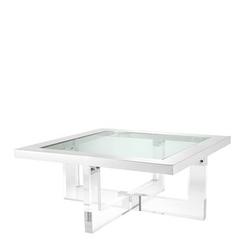 Crossed Leg Silver Coffee Table | Eichholtz Horizon