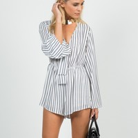 Knot It Striped Romper