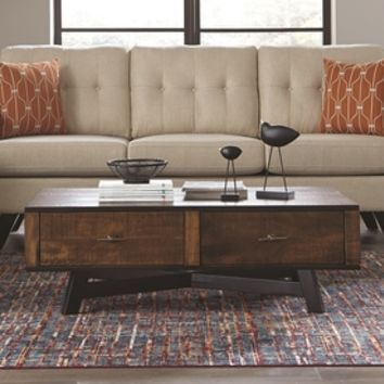 Shop Scott Living Tobacco Asian Hardwood Coffee Table at Lowes.com