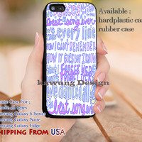 Best Song Ever One Direction Lyric iPhone 6s 6 6s+ 5c 5s Cases Samsung Galaxy s5 s6 Edge+ NOTE 5 4 3 #music #1d dl10