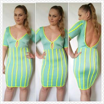 Bodycon Open Back Dress
