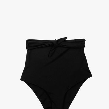 Solid Tie Front Swim Bottom
