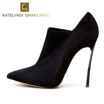 Women Shoes 12CM High Pointed Toe Black