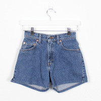 Vintage Levis Shorts High Waisted Denim Shorts Blue Jean Shorts 1980s Shorts 1990s Shorts 90s Red Tab Levis 550s Relaxed Fit 3 XS S Small