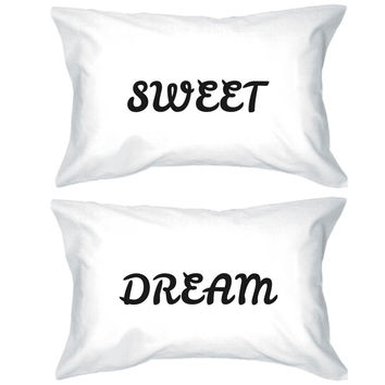 Bold Statement Pillowcases 300T -Count Standard Size 20 x 31 - Sweet Dream