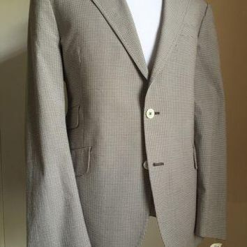 New $950 Paul Smith London Gray Jacket Sport Coat Blue 42 US ( 52 Eur ) Italy