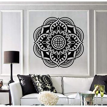 Vinyl Decal Mandala Buddhist Hindu Religion Symbol Wall Stickers Unique Gift (657ig)