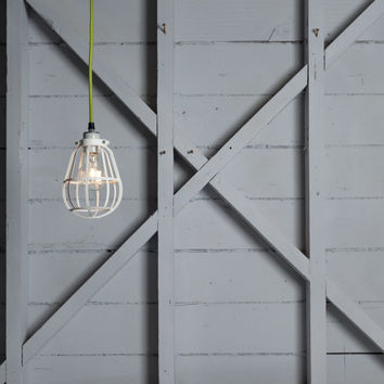 Industrial Lighting - Modern Cage Light - Swag Pendant