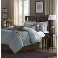 Connell Polyester Micro Suede Solid 7 Pieces Set - Bedding | Madison Park