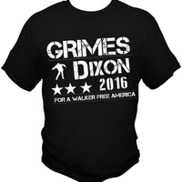 The Walking Dead T Shirt Tee Sheriff Rick Grimes Daryl Dixon 2016 Zombie New