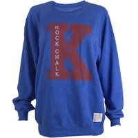 KU Bookstore - Rock Chalk Boyfriend Fit Womens Crew
