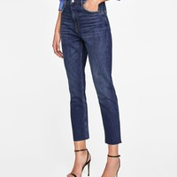 JEANS VINTAGE HIGH WAIST SUNSET BLUE DETAILS