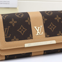 LV fashion leather long wallet[380345286692]