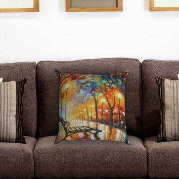 The Loneliness of Autumn Painting Print Pillow Cover , Custom Zippered Pillow Case One Side Two Sides