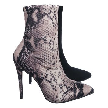 Hibiscus40 High Heel Dress Bootie - Women Ankle Slouch Boots