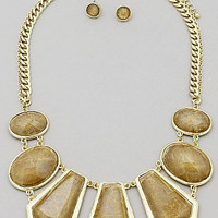 Geometric Statement Necklace Set
