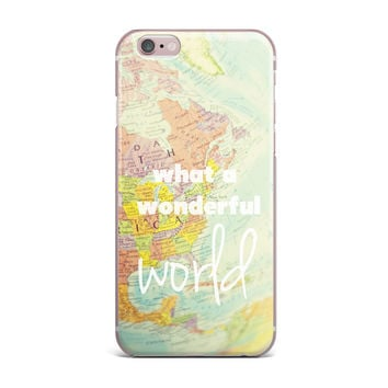 "Libertad Leal ""What a Wonderful World"" Map iPhone Case"