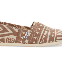 TOMS Brown Tribal Men's Classics Brown