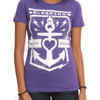 Sleeping With Sirens Anchor Girls T-Shirt