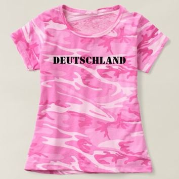 Germany/Deutschland (Pink Tarn damen/women) T-shirt