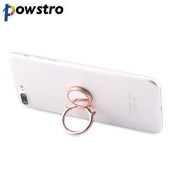 Powstro Small Angel Demon 360 Degree rotate Finger Ring Phone Holder Smartphone Stand