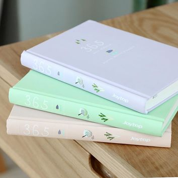 Cute Candy Color 365 Days Planner Daily Schedule Notebook Diary Stationery School Supplies