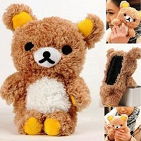 Wellparts Cool Cute 3D Teddy Bear Doll Toy Plush Case Cover For Touch 6 6G 6th