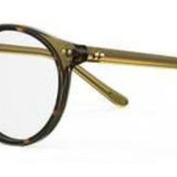 Safilo - Cerchio 04 Olive Green Mustard Eyeglasses / Demo Lenses